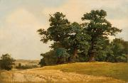 Eugen Ducker Landscape with oaks oil painting reproduction