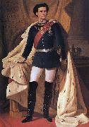 King Ludwig II of Bavaria in generals' uniform and coronation robe