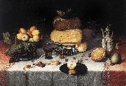 Floris van Dyck Still Life with Cheeses oil painting on canvas