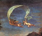 Adonis Led by Cupids to Venus, detail, Francesco Albani