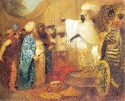 Ethiopian king meeting ambasadors of Persia