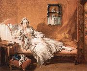 Francois Boucher Portrait of the artist's wife Marie-Jeanne Buseau oil painting reproduction