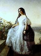 Francois-Auguste Biard Portrait of a woman oil painting reproduction