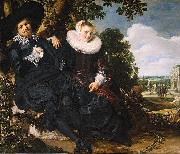 Marriage Portrait of Isaac Massa en Beatrix van der Laen, Frans Hals