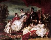 Portrait of Queen Victoria, Prince Albert, and their children, Franz Xaver Winterhalter