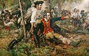 Frederick Coffay Yohn Herkimer at the Battle of Oriskany oil painting