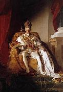 Friedrich von Amerling Emperor Franz I. of Austria wearing the Austrians imperial robes oil painting on canvas