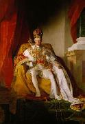 Emperor Franz I. of Austria wearing the Austrians imperial robes, Friedrich von Amerling