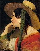 Girl in Yellow Hat, Friedrich von Amerling