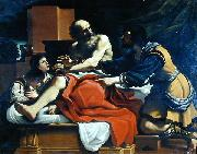 Jacob, Ephraim, and Manasseh, painting by Guercino, GUERCINO