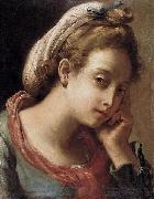 Gaetano Gandolfi Portrait of a Young Woman oil painting reproduction