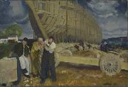 George Bellows Builders of Ships oil painting reproduction