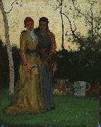 Two Sisters in the Garden