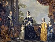 Frederick Henry, Prince of Orange, with His Wife Amalia van Solms and Their Three Youngest Daughters
