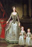 German Hilaire Edgar Portrait of Anna Charlotte Dorothea von Medem with daughters Wilhelmine and Pauline oil painting artist