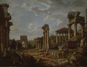 Giovanni Paolo Panini A Capriccio of the Roman Forum oil painting artist