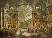 Interior of a Picture Gallery with the Collection of Cardinal Silvio Valenti Gonzaga, Giovanni Paolo Pannini