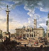 Rome, The Piazza and Church of Santa Maria Maggiore, Giovanni Paolo Pannini