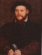 Portrait of an Unknown Man Holding Gloves, Hans holbein the younger