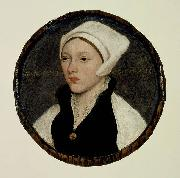 Portrait of a Young Woman with a White Coif, Hans holbein the younger