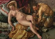 Hendrick Goltzius Jupiter und Antiope oil painting reproduction