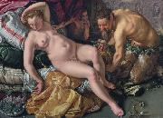 Hendrick Goltzius Jupiter and Antiope oil painting reproduction