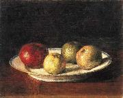 Henri Fantin-Latour A plate of apples oil painting reproduction