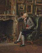 Henri-Pierre Danloux The Baron de Besenval in his Study oil painting artist
