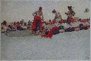 Howard Pyle So the Treasure was Divided oil painting artist