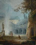 Hubert Robert The Fountain oil painting reproduction
