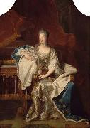 Hyacinthe Rigaud Full portrait of Marie Anne de Bourbon Dowager Princess of Conti oil painting reproduction