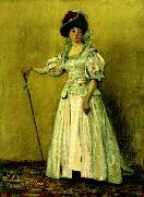 Ion Andreescu Portret de femeie in costum de epoca oil painting