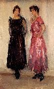 Isaac Israels Two models, Epi and Gertie, in the Amsterdam Fashion House Hirsch oil painting
