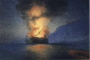 Ivan Aivazovsky Exploding Ship oil painting reproduction