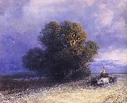 Ivan Aivazovsky Ox Cart Crossing a Flooded Plain oil painting reproduction