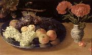 Jacob van Es Plums and Apples oil painting artist