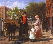 Jacques-Laurent Agasse Flower Seller oil painting on canvas
