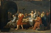 Jacques-Louis  David The Death of Socrates oil painting reproduction