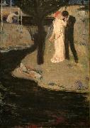 Jan Preisler Lovers oil painting