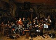 Jan Steen A company celebrating the birthday of Prince William III oil painting reproduction