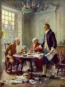 Jean Leon Gerome Ferris Writing the Declaration of Independence oil painting reproduction