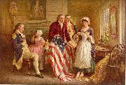 Jean Leon Gerome Ferris Betsy Ross oil painting