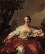 Jean Marc Nattier Portrait of Madame Geoffrin oil painting artist