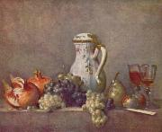Jean Simeon Chardin Uva y granada oil painting reproduction