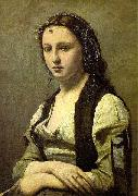 Jean-Baptiste Camille Corot The Woman with a Pearl oil painting artist