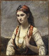 Jean-Baptiste Camille Corot Young Woman of Albano oil painting artist
