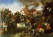 Johann Peter Krafft Zrinyi's Charge from the Fortress of Szigetvar oil painting reproduction
