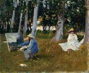Claude Monet Painting by the Edge of a Wood, John Singer Sargent