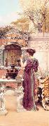 At the Garden Shrine Pompeii, John William Godward