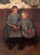 Leon Frederic Two Walloon Country Girls oil painting reproduction